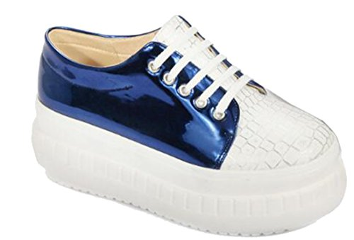 Laruise Women's New Arrival Euro-Preppy Loafer Blue IJOBH7aQ