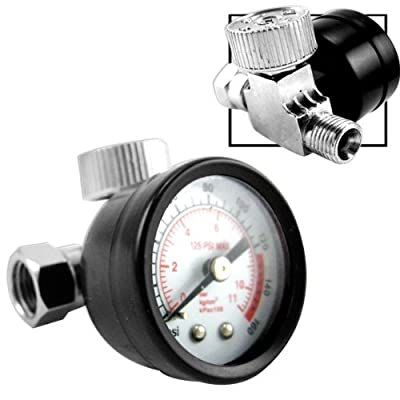 Inline Air Regulator with Easy-Read Gauge - 160 PSI by Generic