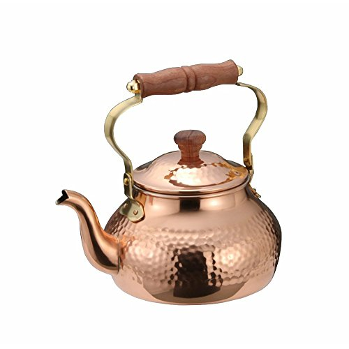 Kujakudo Pure Copper Kettle 2.0 Liter Made in Japan by Takekoshi by Takekoshi