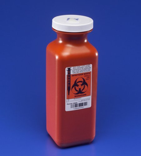 TRANSPORTABLE SHARPS CONTAINER 1 1/2 QUART by SharpSafety