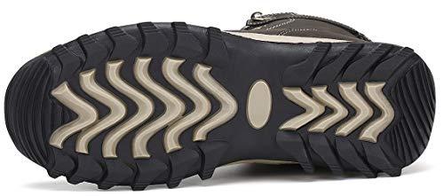 Mishansha Bottes Homme Chaude Hiver Chaussures Antidérapant Chaussures de Randonnée Imperméable 5