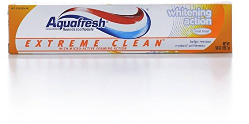 Aquafresh Extreme Clean Fluoride Toothpaste, Whitening Action 5.60 oz (Pack of - Fluoride Aquafresh Clean Extreme Toothpaste
