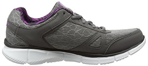 skechers EQUALIZER - STEP LIVELY - Zapatillas, Mujer Gris (CCPR)