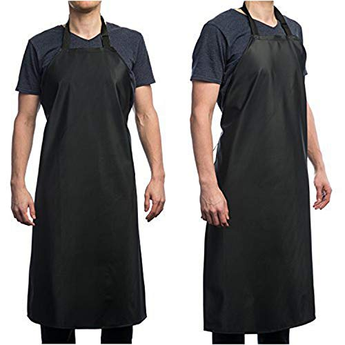 Haosen-six Vinyl Waterproof Aprons for Chef Kitchen Home Hotel and Working Use PVC PE Optional with Adjustable Belt with Snap (Optional Belt Clip Snap)