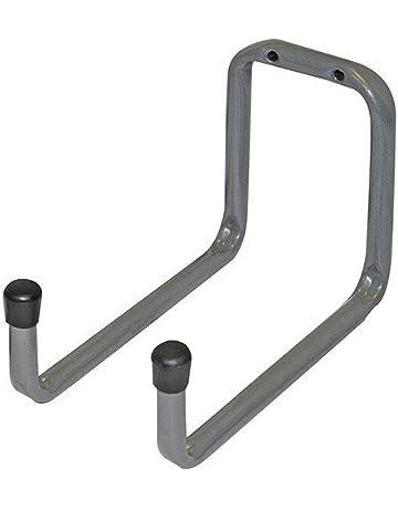 FIAMER Steel Garage Storage Utility Ganchos dobles ganchos en U largos almacenamiento de herramientas para escaleras bicicletas mangueras y m/ás equipos servicio pesado