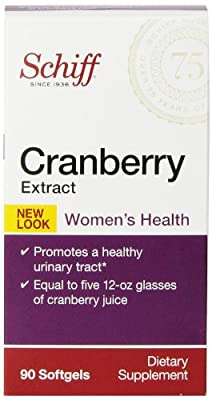 Schiff Cranberry Extract, 90 softgels - Women's Health Supplement from Cutting Edge International, LLC