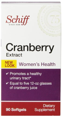 Schiff Cranberry Extract Dietary Supplement - Women's Health - Promotes a Healthy Urinary Tracy - 90 Softgels