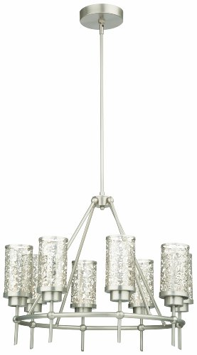 Philips Forecast M206878 Brocade Chandelier, Brushed Nickel