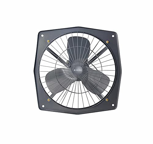 Candes Solo 12 Inch Fresh air 3 Blade Exhaust Fan (Black)