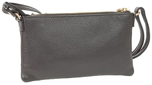 Bag Clutch Crossbody amp;R Protection With Collection Leather Women's RFID amp; R Brown WZ0SqpnW