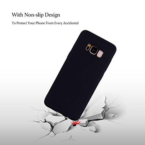 Funda Silicona para Samsung Galaxy S8 PLUS, AllDo Carcasa Protectora Suave Funda Flexible Ligero Soft TPU Gel Case Cover Carcasa Ultra Delgado Caja de Diseño Simple Funda Color Sólido Carcasa Anti Ras Negro