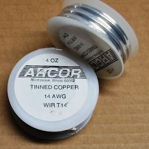 14 gauge tinned copper wire for stained glass and soldered art 4 ounce roll