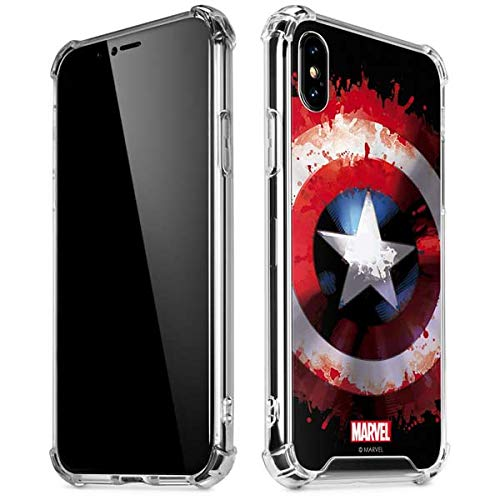 Skinit Captain America Shield iPhone XR Clear Case - Officially Licensed  Marvel/Disney Phone Case Clear - Transparent iPhone XR Cover