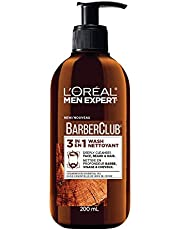 L'Oreal Paris Men Expert BarberClub, 3-In-1 Mens Face + Beard + Hair Wash, Cedarwood Essential Oil, 200 ml