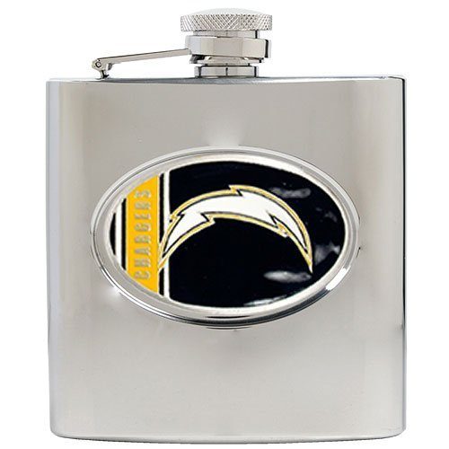 San Diego Chargers Stainless Steel - NFL San Diego Chargers 6oz Stainless Steel Hip Flask