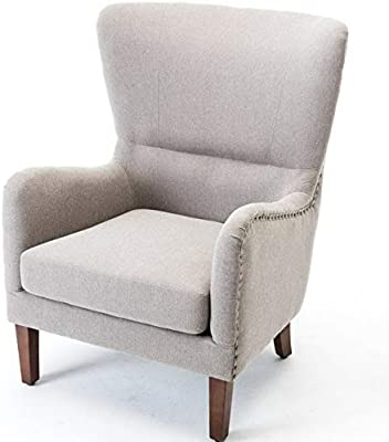 Amazon.com: Hebel Mid-Century Wingback Chair Accent Curved ...