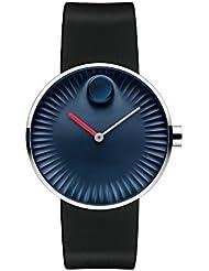 Movado Edge Blue Aluminum Dial Swiss Quartz Mens Watch 3680004