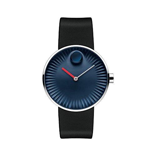 Movado Edge Blue Aluminum Dial Swiss Quartz Men's Watch 3680004 by Movado