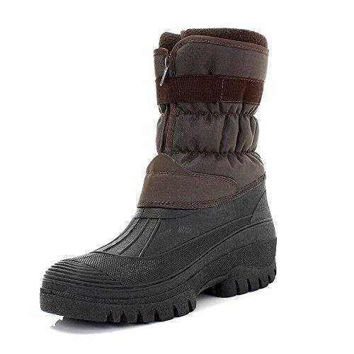 Fleece Ladies Size Boots UK Rain 11 Lined 3 Brown Snow Mucker Padded Waterproof Sole Wellington Mens BaHBq5wxnC