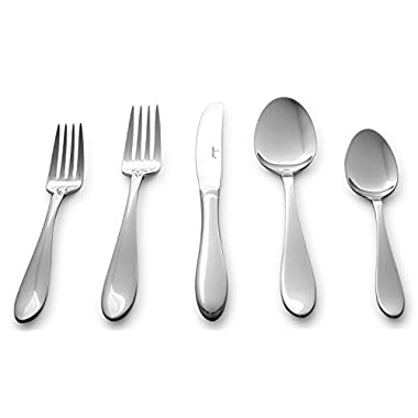Culina® Lorena 20 pcs Flatware for 4 18/10 Stainless Steel Silverware, Mirror Finish