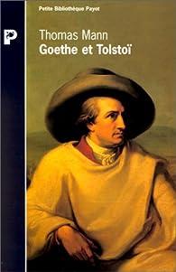 Goethe et Tolstoï par Thomas Mann