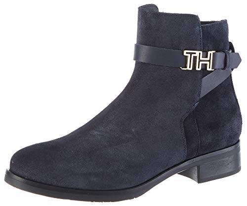 Tommy Hilfiger Damen TH Hardware Flat Bootie Stiefeletten, Blau (Midnight 403), 38 EU 1