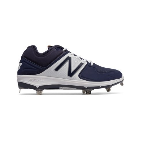 New Balance Men's L3000V3 Baseball Shoe, Navy/White, 9.5 D US