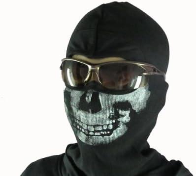 MW2 ゴースト風 スカルマスク(バラクラバ) 骸骨フェイスマスク 目出し帽 コールオブデューティ Call of Duty M