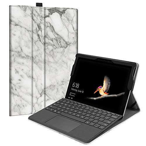 Fintie Case Compatible with Microsoft Surface Go - Multiple Angle Viewing Portfolio Business Cover Fit Surface Go 10-inch Tablet 2018, Compatible w/Type Cover Keyboard (Marble)