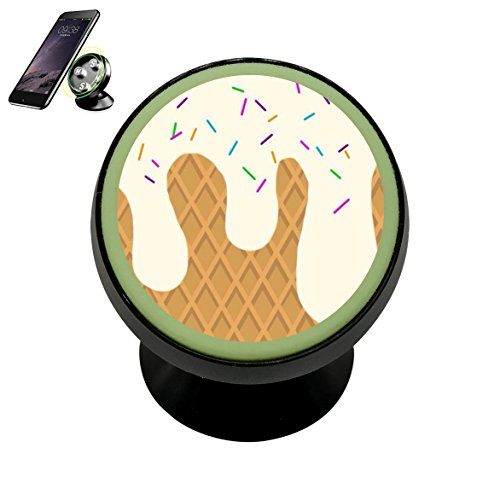 Vehicle Phone Mount Ice Cream Cone Holder Magnetic Universal Cradle Stand Car Dashboard Mount Strong Magnets Smartphones Kit Women Men - Pedestal Dip