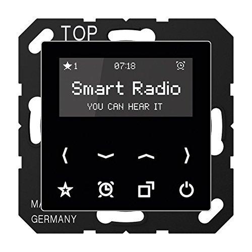 Jung Smart Radio Serie A Schwarz, 1 Stü ck, Rad A 508 SW