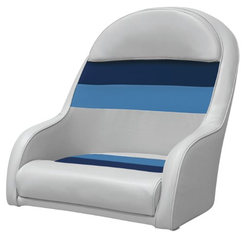 (Wise Deluxe Pontoon Bucket Seat, Gray/Navy/Blue)