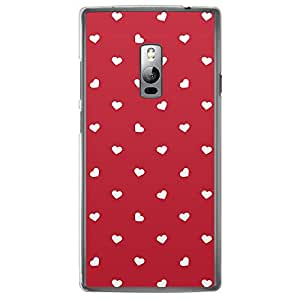Loud Universe OnePlus 2 Love Valentine Printing Files Valentine 57 Printed Transparent Edge Case - Red/White