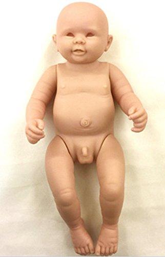 Pursue Baby Soft Full Body Silicone Vinyl Unpainted Reborn Baby Boy Doll Kit Anatomically Correct, 20 Inch Lifelike Newborn Baby Infant Doll Making Model