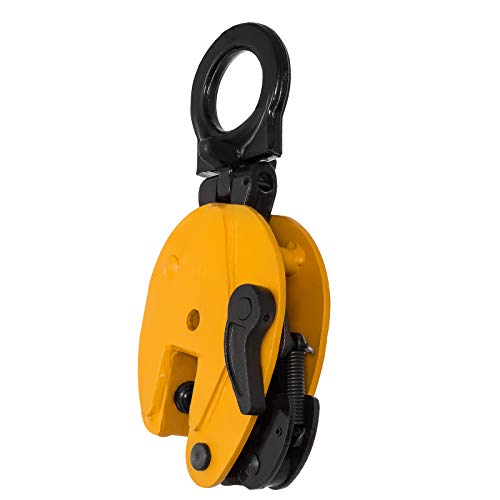 VEVOR 1T Plate Clamp 2204Lbs Plate Lifting Clamp Jaw Opening 0.6 inch Vertical Plate Clamp for Lifting and Transporting by VEVOR