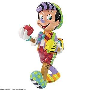 Enesco Disney by Britto Pinocchio 80th Anniversary Figurine, 8.11 Inch, Multicolor