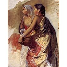 12X16 inch Weeks Edwin Sketch Two Nautch Girls Canvas Art RePro