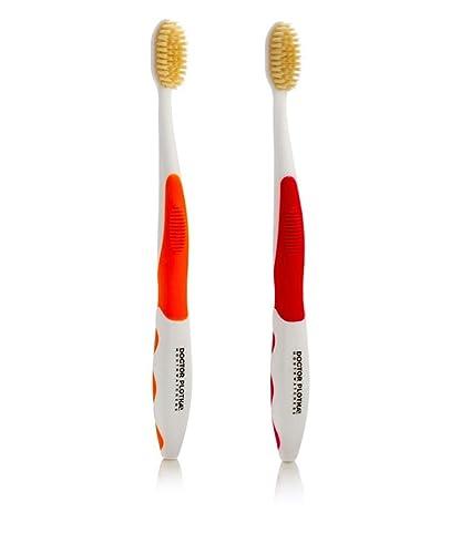mouthwatchers antimicrobiana Floss plata de cerdas cepillo de dientes, adulto, 2 unidades