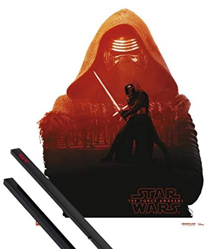 1art1 Star Wars Mini Poster (20x16 inches) Kylo Ren and 1 Set of Black Poster Hangers