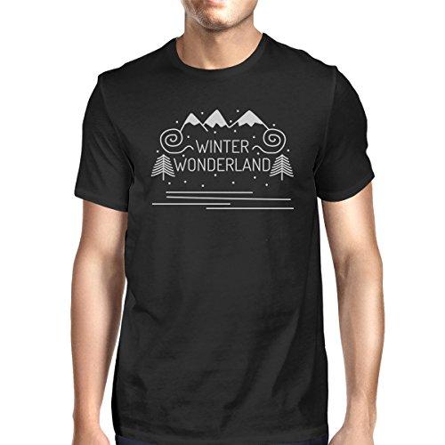 T Printing 365 Courtes Unique Homme Manches shirt Taille Wonderland Winter B5Brdwq