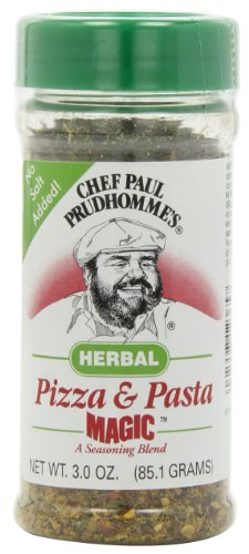Magic Seasoning Blends Herbal Pizza and Pasta Magic, 3-Ounce Bottles (Pack of 6) by Chef Paul Prudhomme's Magic Seasoning Blends