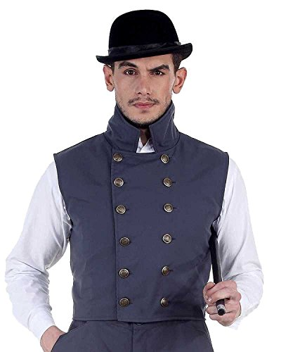 ThePirateDressing Steampunk Victorian Gothic Mens Cosplay Costume Vest Jacket Waistcoat