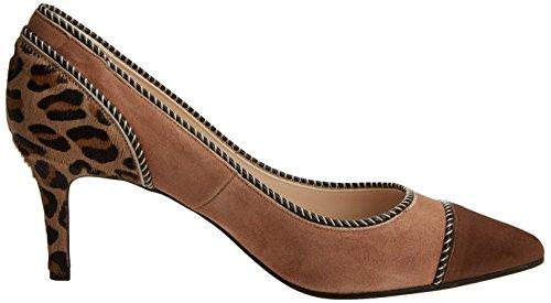 Mujer con Tacón Brown Pantera lodi Cerrada Ante Punta Natural de Colores para Elektraino Zapatos Varios Iwa18