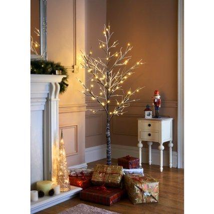 Beautiful 6ft Snowy Twig 120 LED Lights Christmas Tree - Beautiful 6ft Snowy Twig 120 LED Lights Christmas Tree: Amazon.co.uk