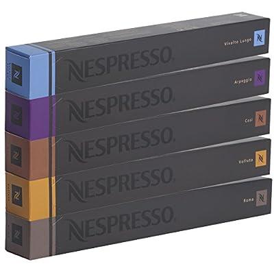 50 NESPRESSO COFFEE CAPSULES (10 x VOLLUTO, 10 x ROMA, 10 x COSI, 10 x VIVALTO LUNGO, 10 x ARPEGGIO)