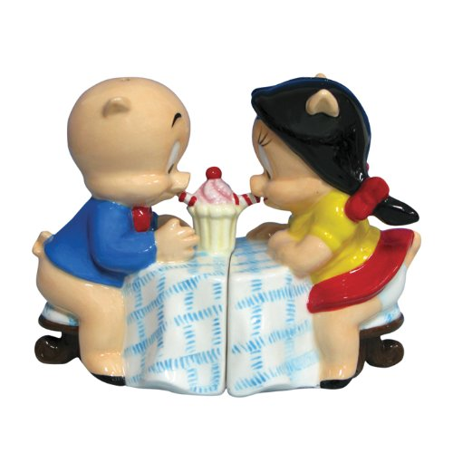 (Westland Giftware Looney Tunes Magnetic Porky Pig and Petunia Salt and Pepper Shaker Set, 3-1/4-Inch)