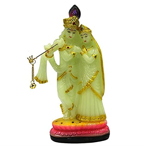 Buy Avighnas Radha Krishna Glowing Radium Murti Idol Statue