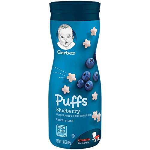 Gerber Puffs Blueberry, 1.48 oz. (Pack of 6)