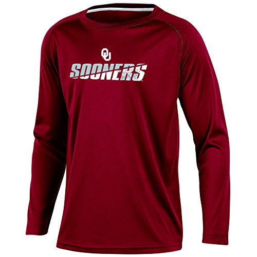 Boys Long Sleeve Crewneck T-shirt (NCAA Oklahoma Sooners Youth Boys Long Sleeve Crew Neck T-shirt, Large)