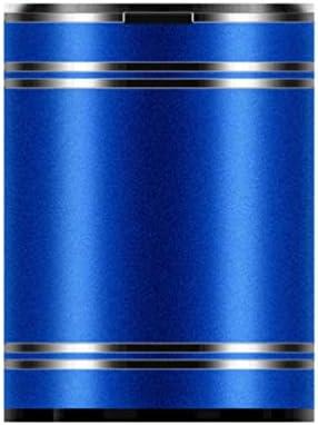 Wakauto ふた付きのステンレス製の車の灰皿ポータブル灰皿タバコ灰皿灰車のゴミ箱車のカップホルダーホームオフィス用(青)